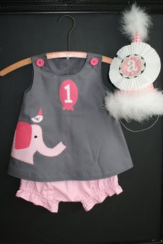 Pink Elephant Birthday Party Outfit