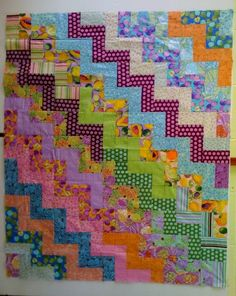 Wacky Rail Fence Quilt - Free Pattern - Handcrafting With Love