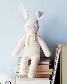 DIY Sock Bunny - stuffed animal made from a pair of socks! From Sweet Paul