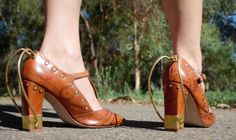 Size 8.5au Steampunk tbars by ShoesbyDianaHill on Etsy, $44.95 via TotusMel's WunderKammer