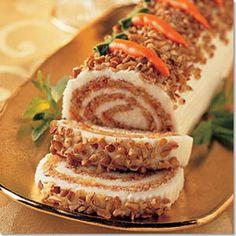 Carrot cake yule log
