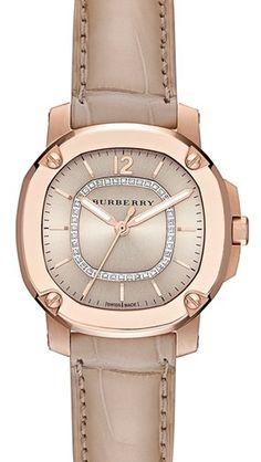 Burberry - Diamond Dial Alligator Strap Watch http://rstyle.me/n/e2jqdnyg6