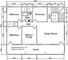 Second level floor plan for the Kodiak Steel Homes Savannah 1: 3,072 Square Feet. #steel #floorplans #architecture