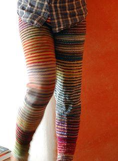 Sockyarn scrap tights tight knitknitknit, sock yarn, knitting, sockyarn scrap, socks, tights, scrap tight, wicked, september