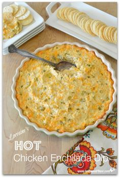 Hot Chicken Enchilada Dip