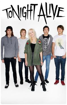 Tonight Alive.  They sound like a mix of VersaEmerge and Paramore, but they're Australian!