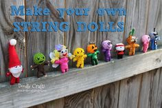 Doodle Craft...: Make Your Own String Voodoo Dolls! OMG these are absolutely adorable!!