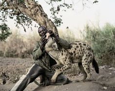 Captive Hyena in Lagos, photograph by Pieter Hugo.  A disturbing, fascinating image.