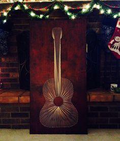Guitar string art guitar string art, diy guitar decor, graduation gifts, diy guitar art