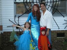 GORGEOUS ADULT MERMAID-ARIEL COSTUME W SEQUIN TAIL FINS & RED WIG M | eBay famili, adult costumes, costum idea, halloween costum