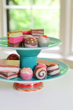 wooden painted treats