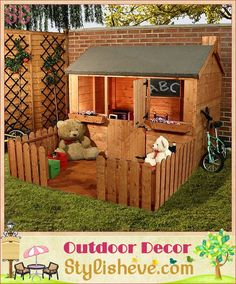 Luxury Outdoor Kids Playhouse