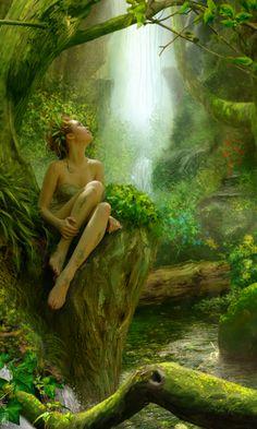 °A spirit of the grove - artist? (nl)