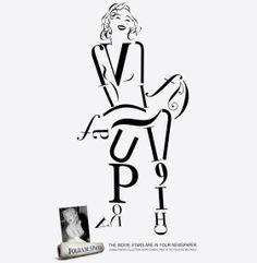 Monroe typography outline