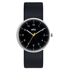 Straight back from the 70's. By popular demand of course. Thank you Dietrich Lubs and co-designer Dieter Rams. Analog with black leather band. $150.00