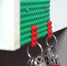 craft, idea, key organ, stuff, keys, key holders, legos, lego key, diy
