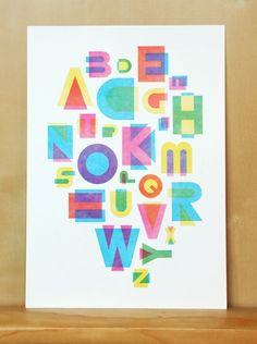 Alphabet poster by Laura Tait
