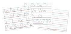 Free alphabet tracing sheets, laminate if you want and use dry erase markers, or pencil and erasers