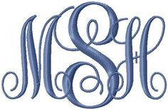 Interlocking Monogram Embroidery Font by HerringtonDesign on Etsy, $1.50....... This shop has THE BEST prices for great Fonts!! Check it out!