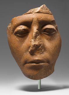 Face of Senwosret III, Middle Kingdom, Dynasty 12, reign of Senwosret III, ca. 1878–1840 B.C.  Egyptian  Quartzite