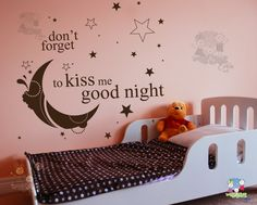 Don't forget to kiss me good night… – Vinyl Wall Quote