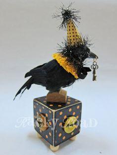 Halloween Raven with key