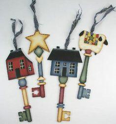 Country Key Ornaments Llaves antiguas