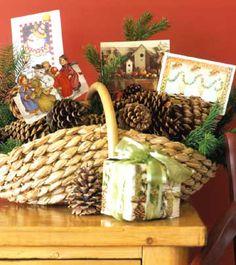 Basket Christmas Card Display