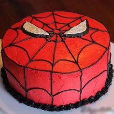 Spider-Man Birthday Cake (Tutorial)