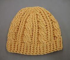 The ever-popular cable hat!