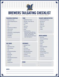 Here's everything you need to plan your next #Brewers tailgate