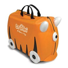 Kids can entertain themselves while zooming around on this suitcase with wheels! Trunki by Melissa & Doug  #sneakpeeq