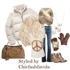 """Tan in the Winter"" by chicfashfavola on Polyvore"