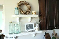 Summer Kitchen Shelves