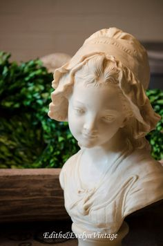 Vintage French Girl Bust Grinam Niam Paris Large by edithandevelyn on Etsy