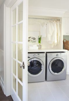 White laundry space