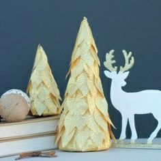 Gold Leaf Trees  - so easy!