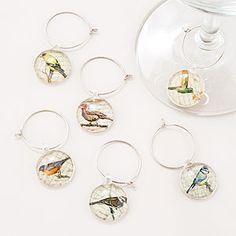 Bird Wine Charms, Set of 6 | Bar| Kitchen & Dining | World Market
