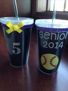 Softball Senior Gift. Easy to make and cute cup