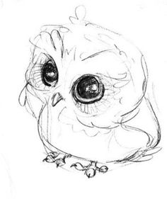 How to draw a cute baby owl - photo#11