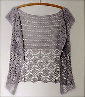 Beautiful crocheted sweater, Ariane, free pattern on Ravelry