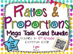 Ratios and Proportions Mega Task Card Bundle