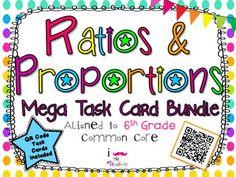 Ratios and Proportions Mega Task Card Bundle