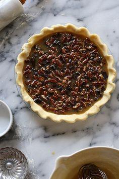 Bourbon Pecan Pie with Dark Chocolate