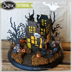 Sizzix Tutorial   Rickety Haunted House by Hilary Kanwischer