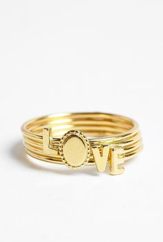 """""""Love"""" stacking rings #mothersday #gift"""