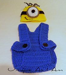 Free Crochet Pattern Minion Overalls : Baby Crochet on Pinterest 1219 Pins