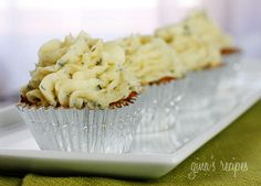 Skinny meatloat cupcakes with mashed potato frosting...