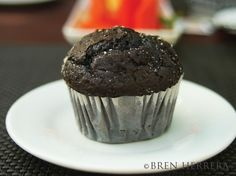 Perfect chocolate muffin for breakfast.