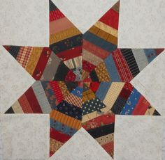 string star, cabin quilter, log cabins